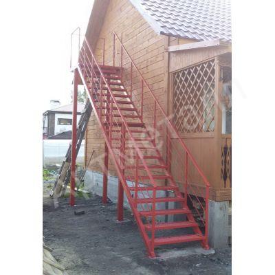 Уличная лестница на двух косоурах 8