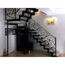 Лестница на двух косоурах 10