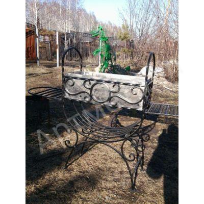 Мангал железный с художественной ковкой