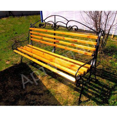 Скамейка с художественной ковкой
