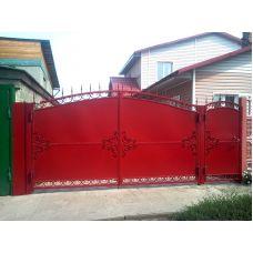 Ворота и калитка с покраской