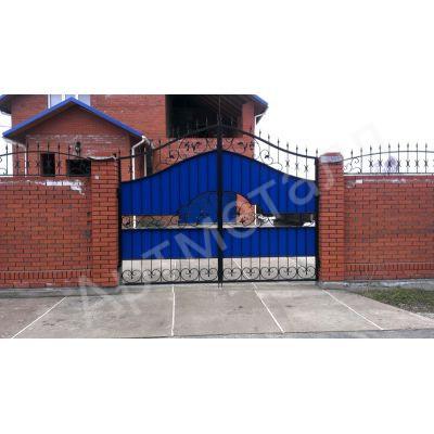 Ворота въездные со вставками