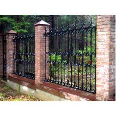 Забор металлический прутковый