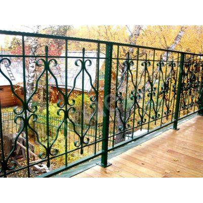 Балконные ограждения с покраской