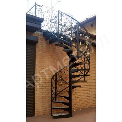 Лестница металлическая винтовая 1