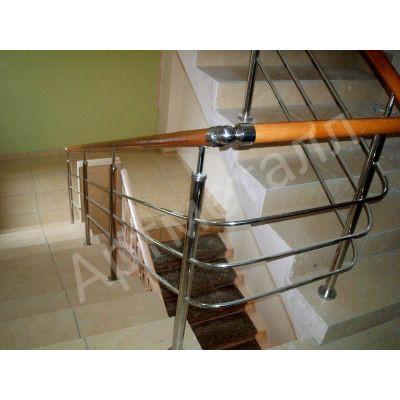 Перила из нержавеющей стали для маршевых лестниц