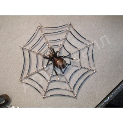 Паук на паутине художественная ковка