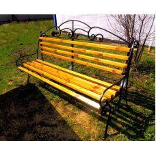 Скамейка с худ.ковкой