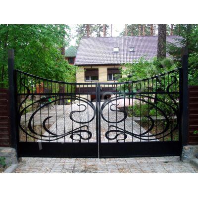 Ворота въездные кованые