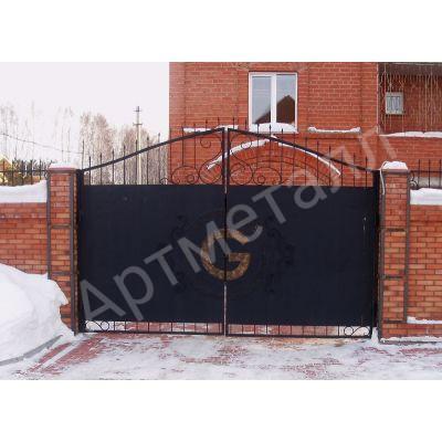 Въездные ворота с калиткой G